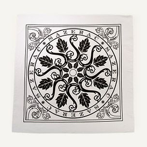 White Bandana with Signature Medallion Design Small