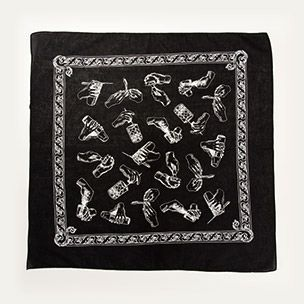 Black Bandana with Mixology Moves Small