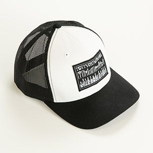 Black Trucker Hat with Patch Small