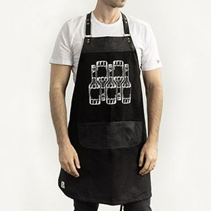 Black Bartender Apron Small
