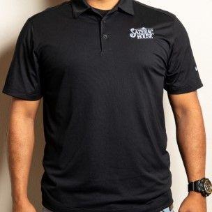 Men's Black Nike Dri-Fit Polo
