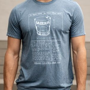 Sazerac Cocktail Week 2021 Blueprint Shirt