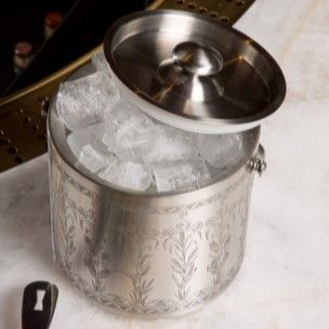 Etched Stainless Steel Ice Bucket