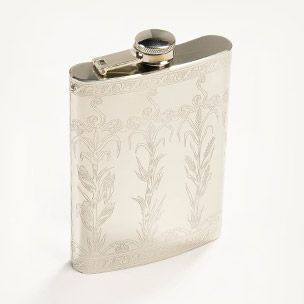 Etched Metal Flask Small