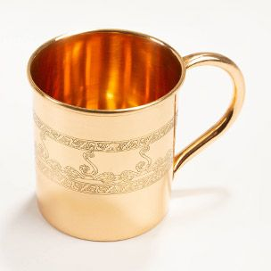 Etched Copper Mule Mug Small