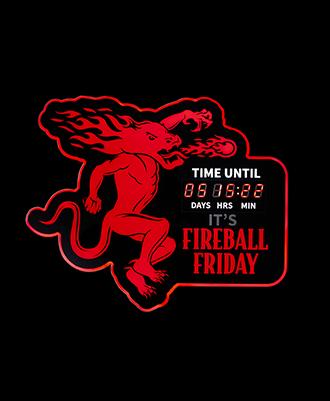Fireball Friday Countdown Clock