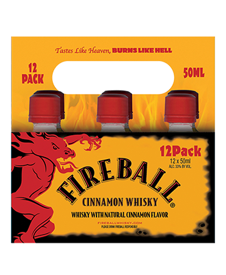 Fireball Whisky 50ML 12 Carrier Pack