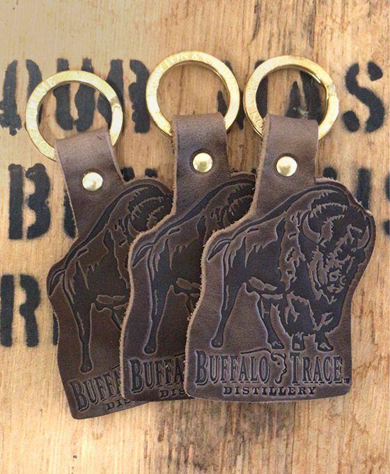 Buffalo Trace Leather Key Fob