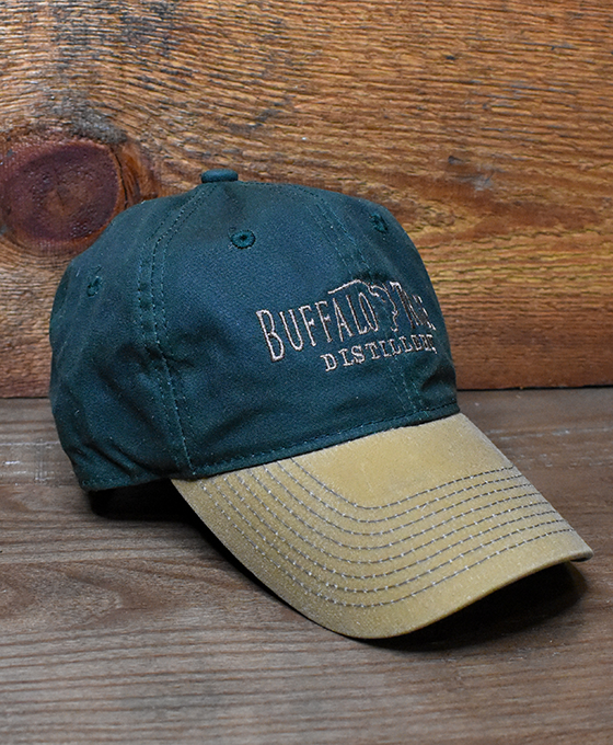 Buffalo Trace Green Waxed Canvas Hat