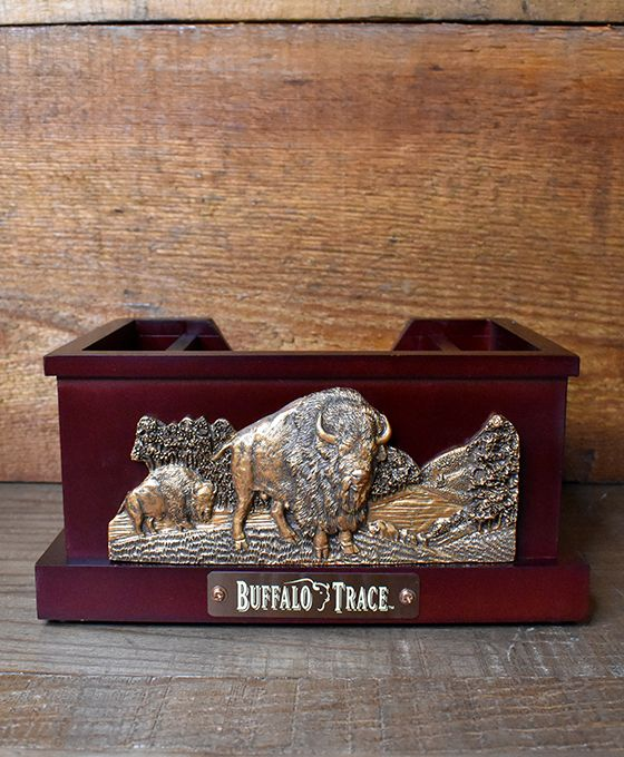 Buffalo Trace Napkin Caddy with Copper Front Plate