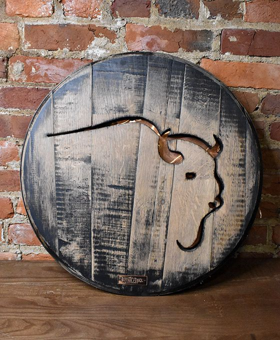 Hand-Crafted Buffalo Trace Barrel Head