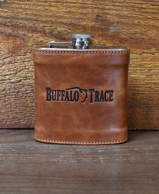 Buffalo Trace Leather Wrapped Flask