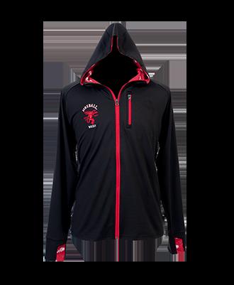 Fireball Black Wicking Zip Up Jacket