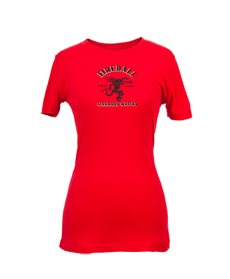 Fireball Women's Red Babydoll Tee