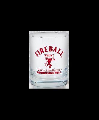 Fireball Rocks Glass