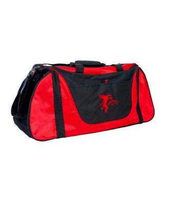 Fireball Red & Black Duffle Bag