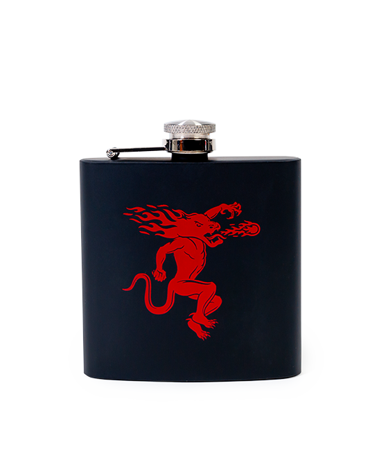 Fireball Black Wrapped Flask